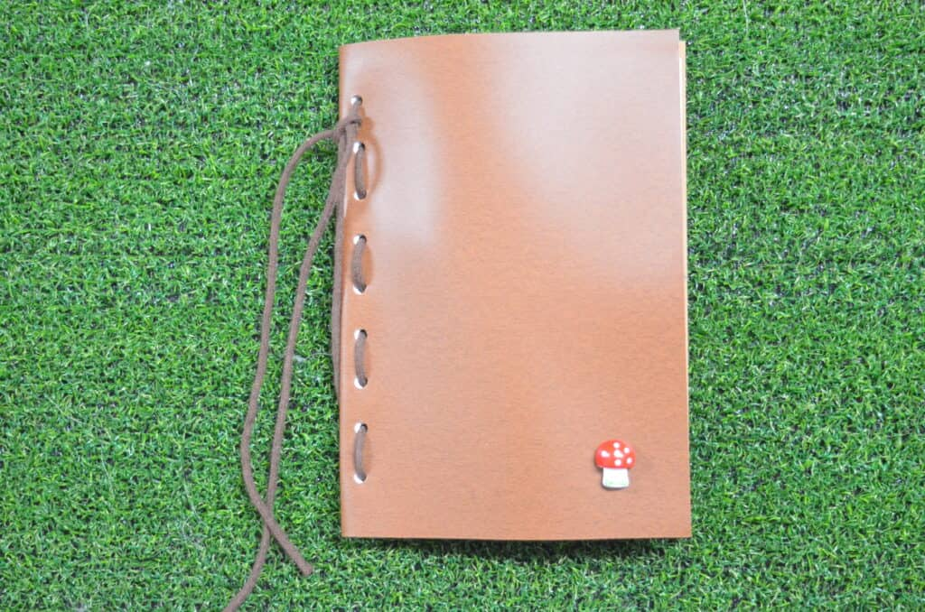 brown nature journal in grass