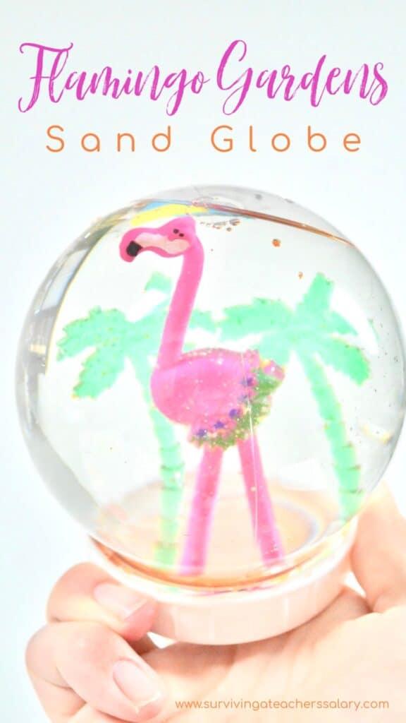 flamingo beach sand globe