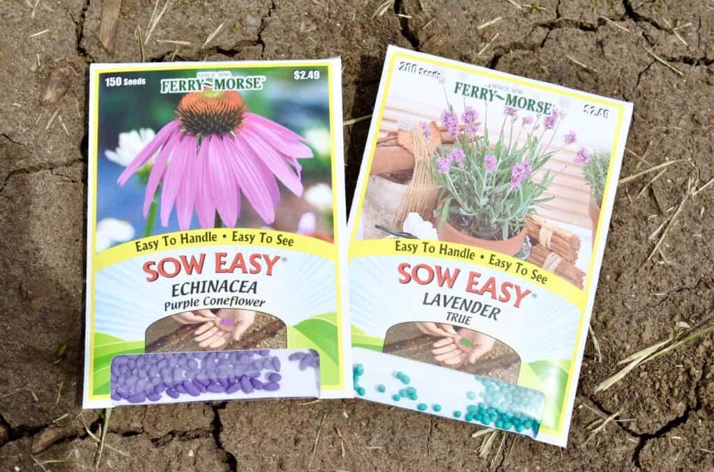 tea butterfly bee garden flower seed packets