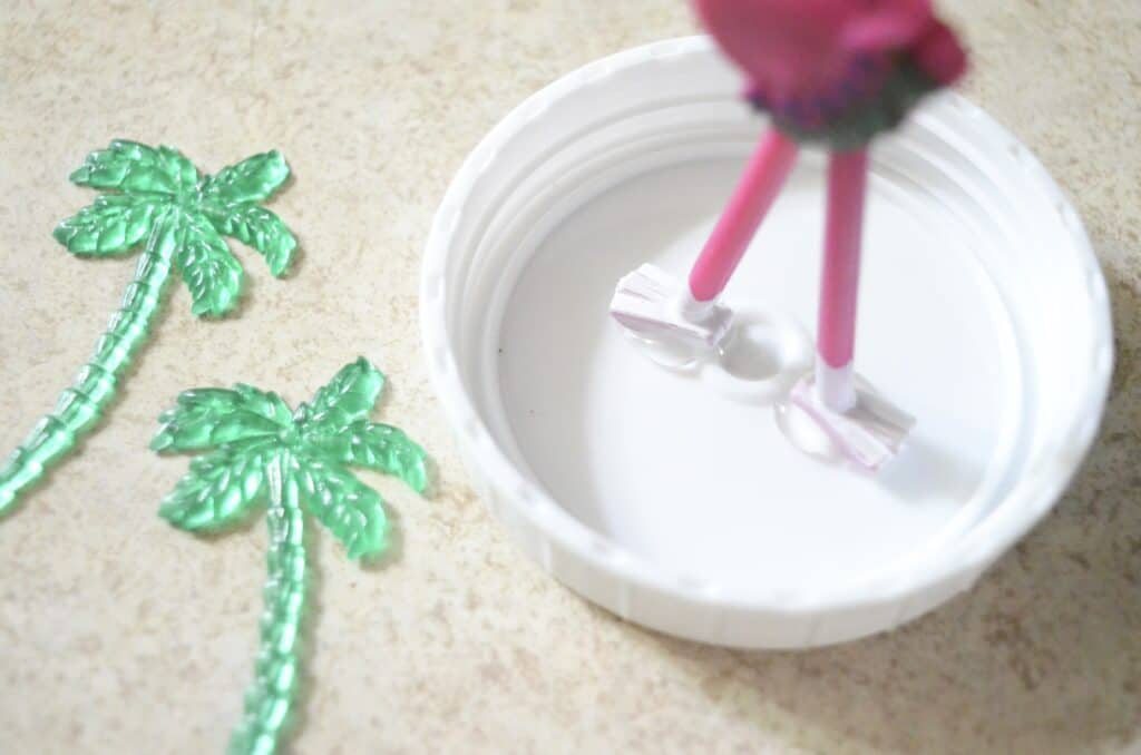 flamingo beach sand globe craft