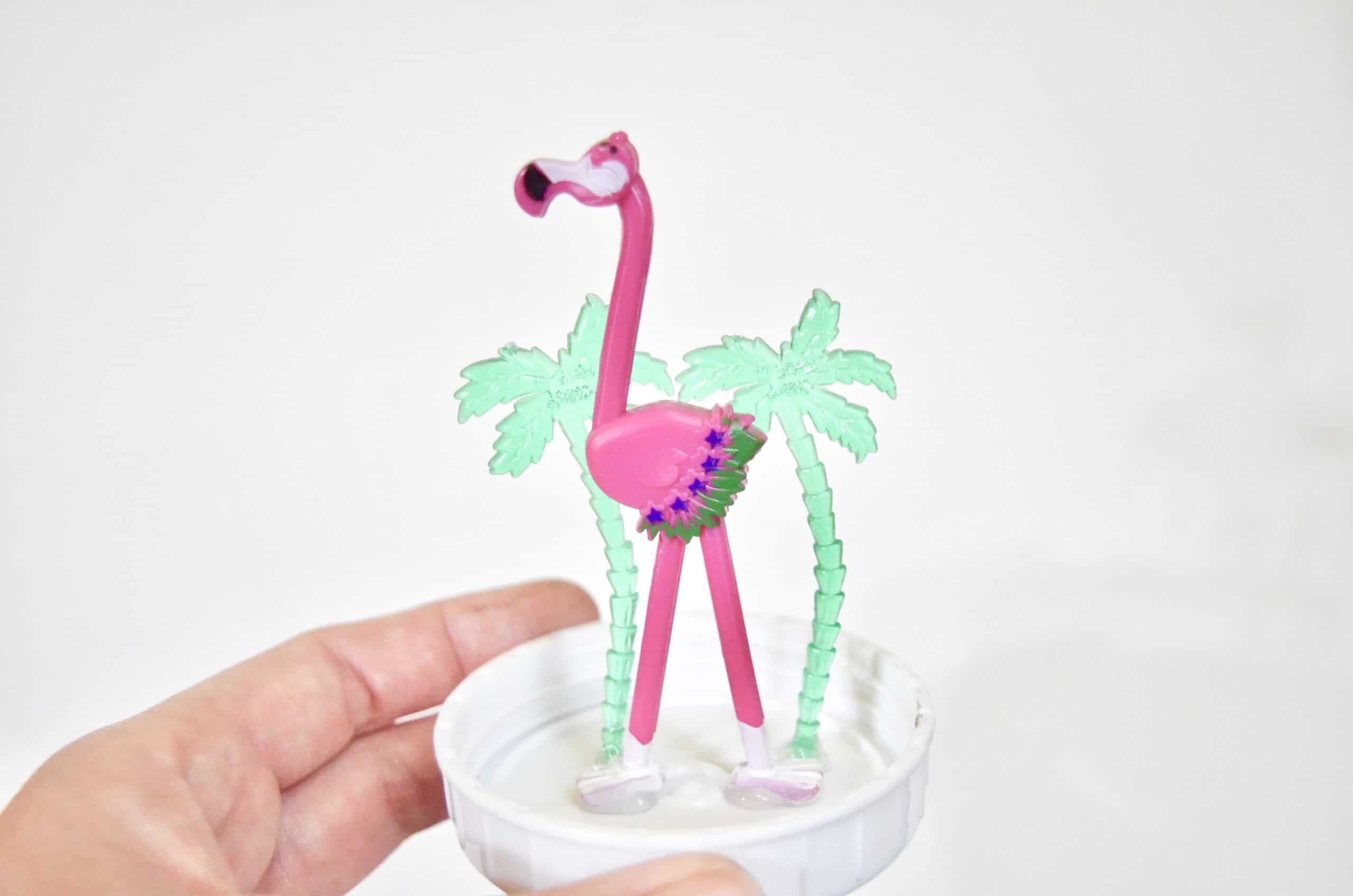 toy flamingo beach globe craft