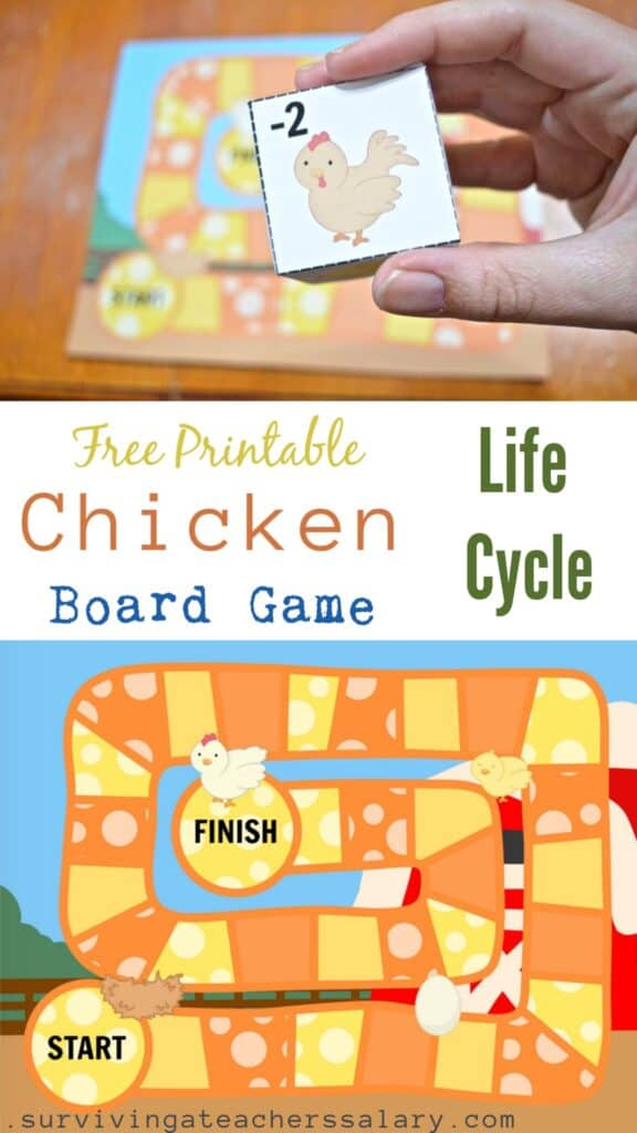 FREE Printable Chicken Life Cycle Board Game