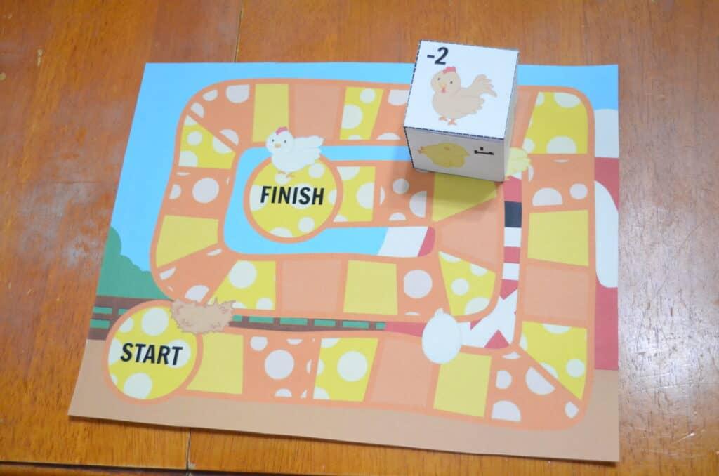 printable chicken life cycle math game
