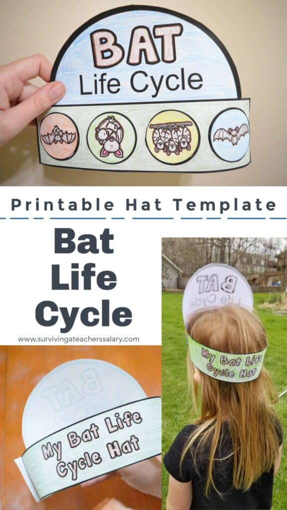 printable bat hat template