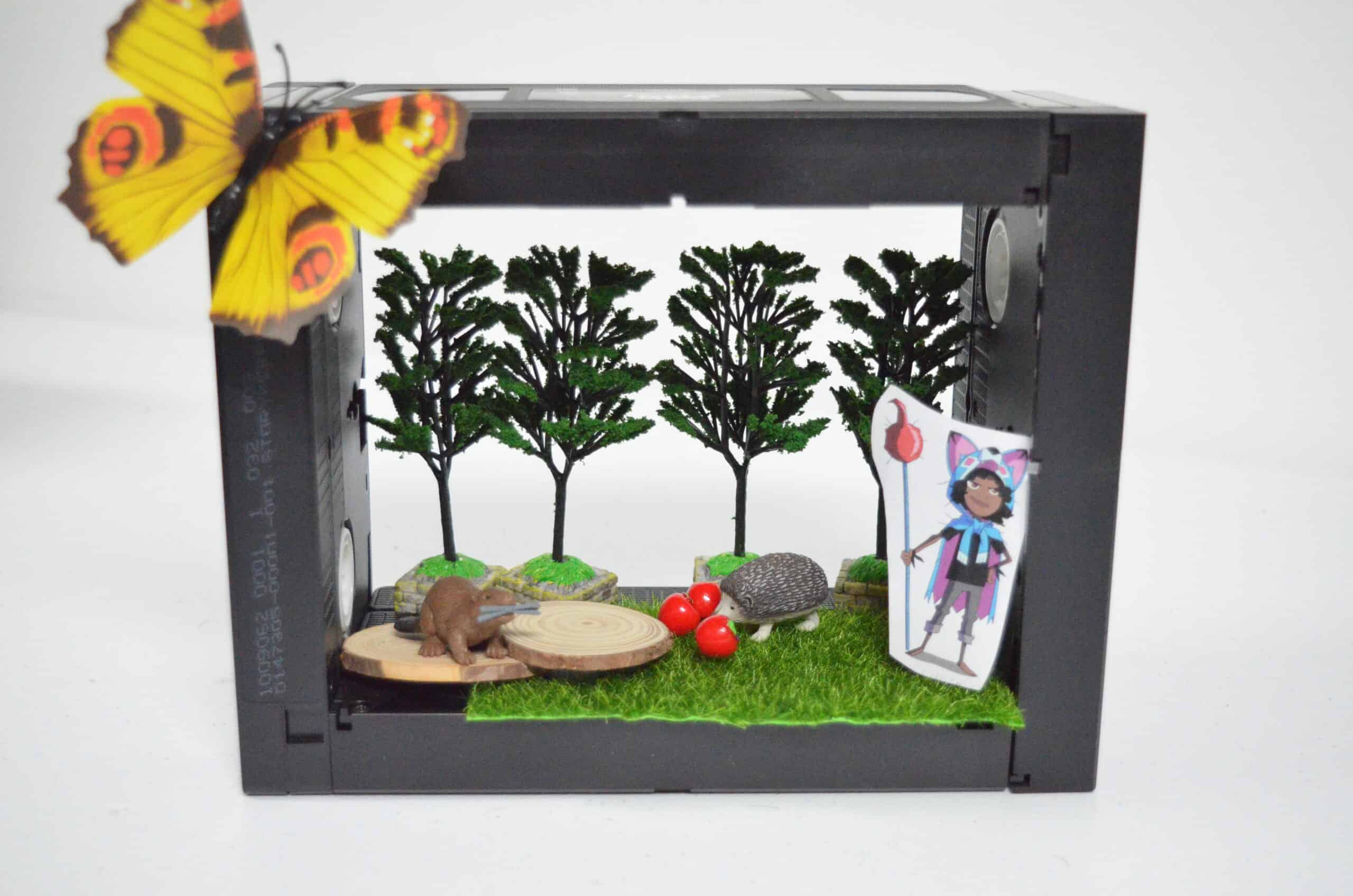 VHS diorama sensory play