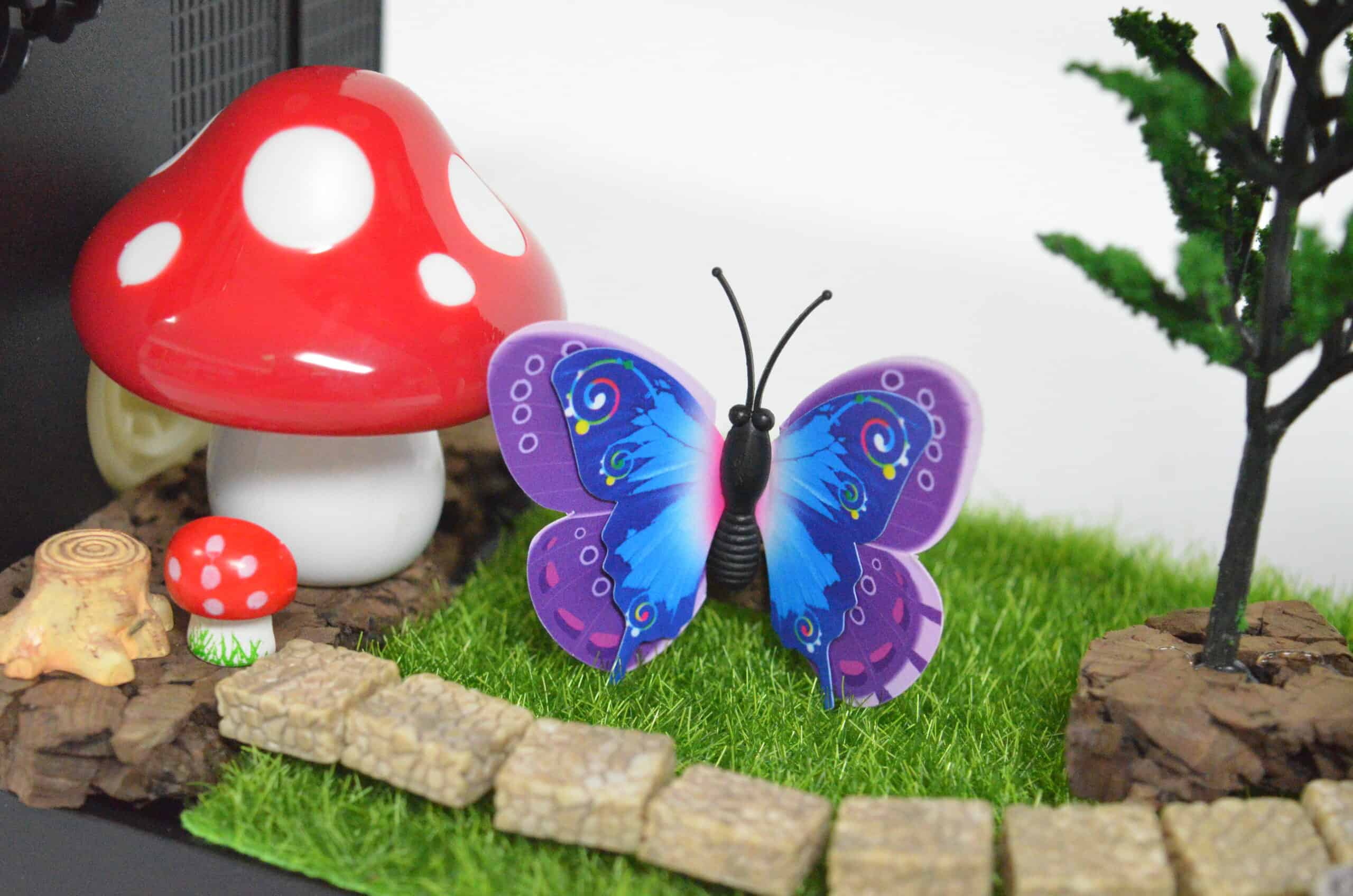 magical butterfly and mushroom