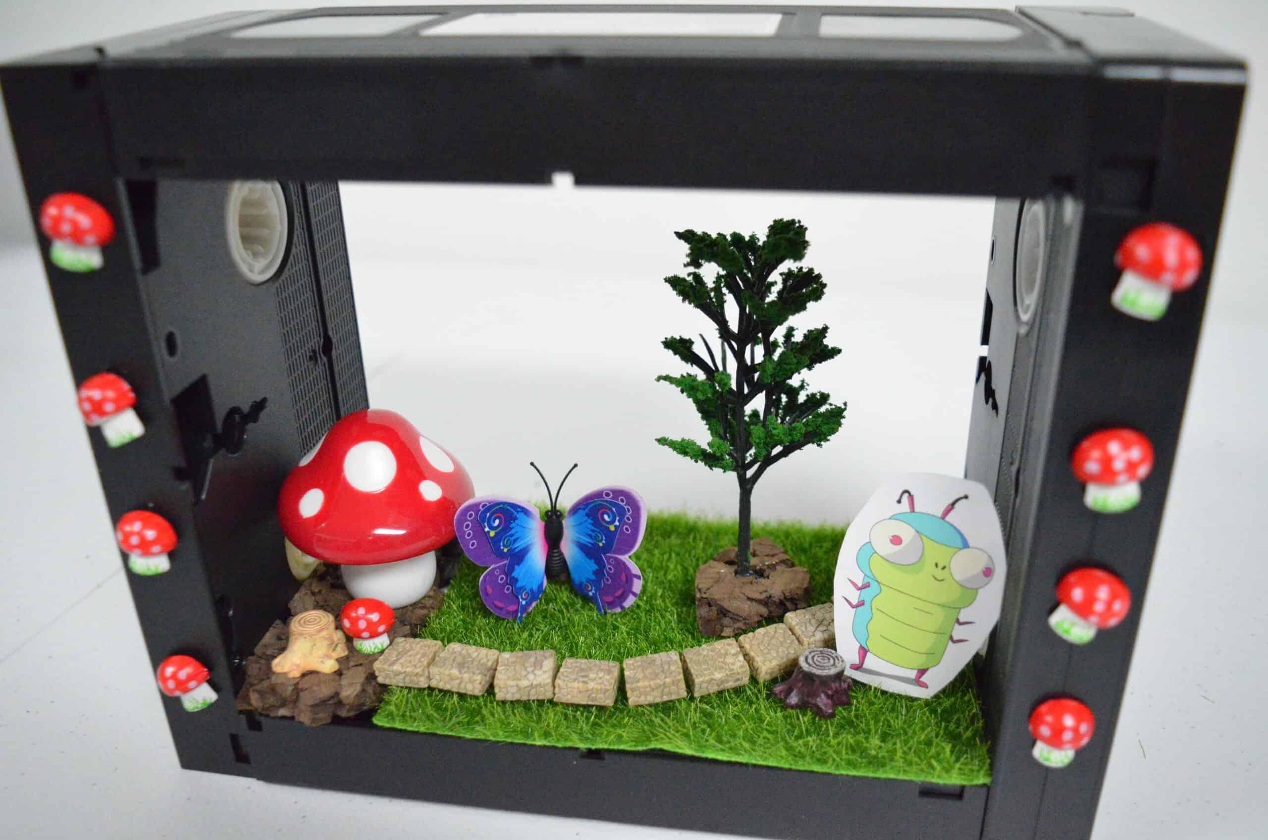 nature play VHS diorama