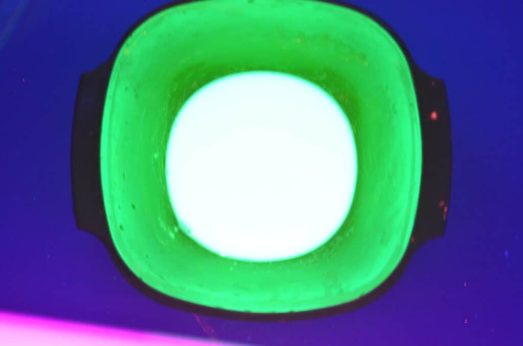 glow in the dark bowl of paint