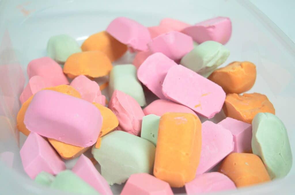homemade chalk rocks