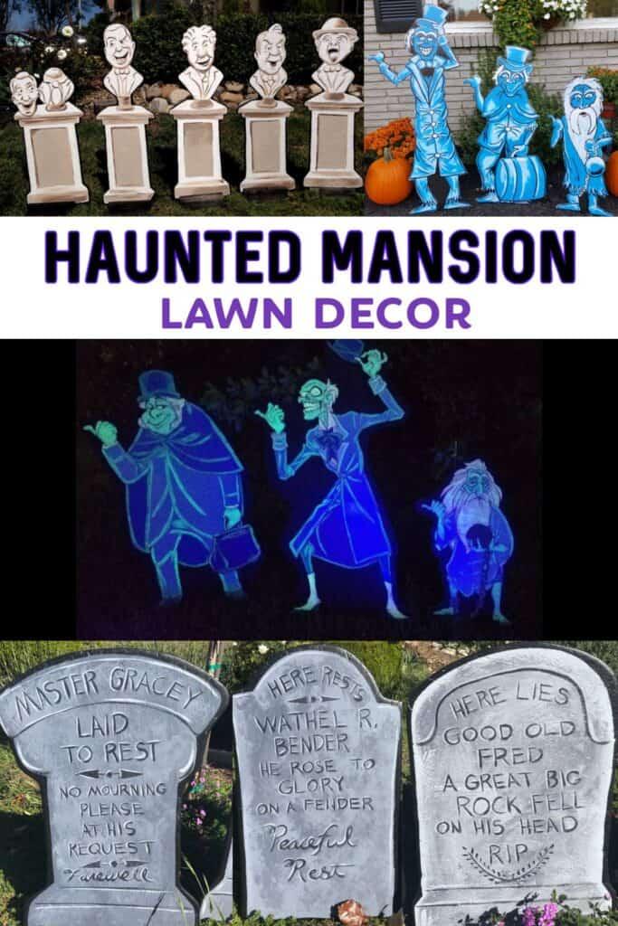 haunted mansion lawn decor