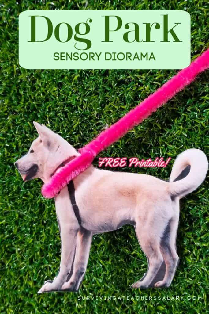 DIY Dog Park Sensory Diorama