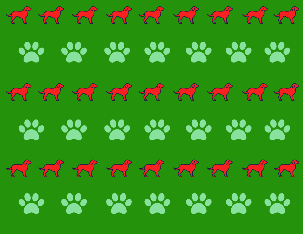 cute dog wrapping paper