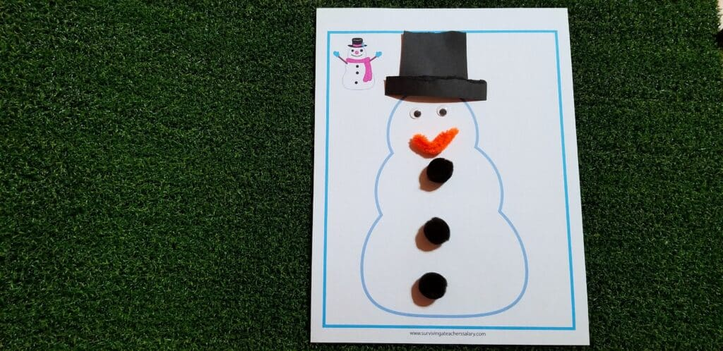 snowman printable activity