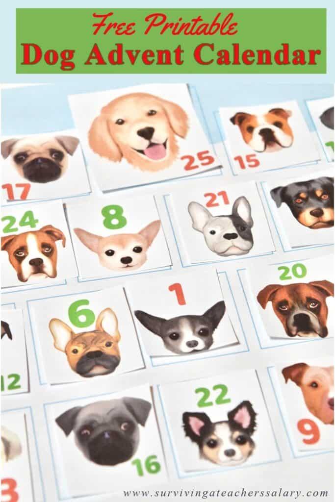 Free Printable Dog Advent Calendar