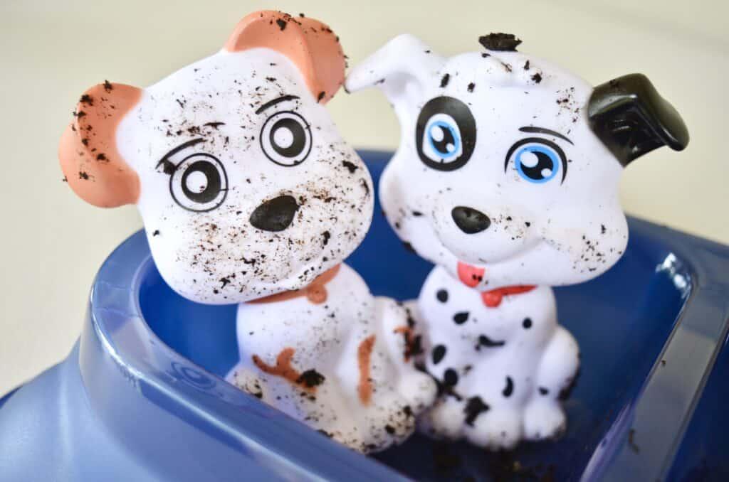 dog wash sensory play toys