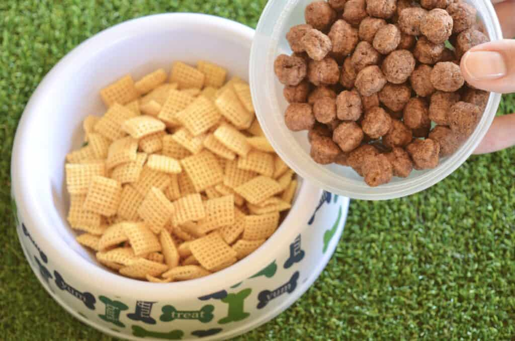 puppy chow dog bowl snack