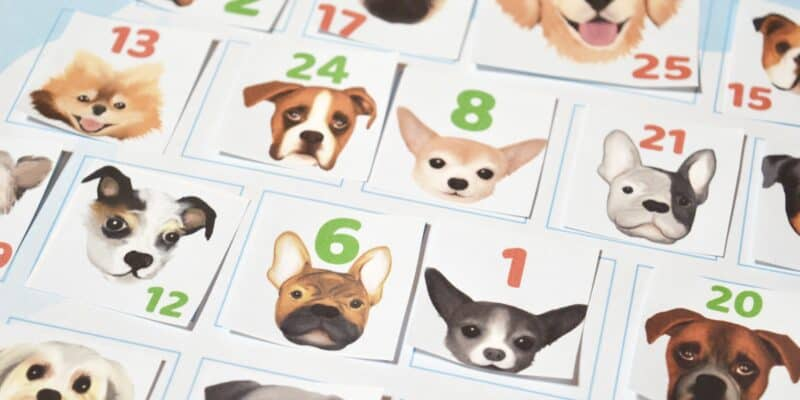 Free Printable Dog Advent Calendar