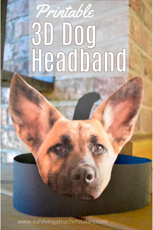 3d dog headband printable craft for kids