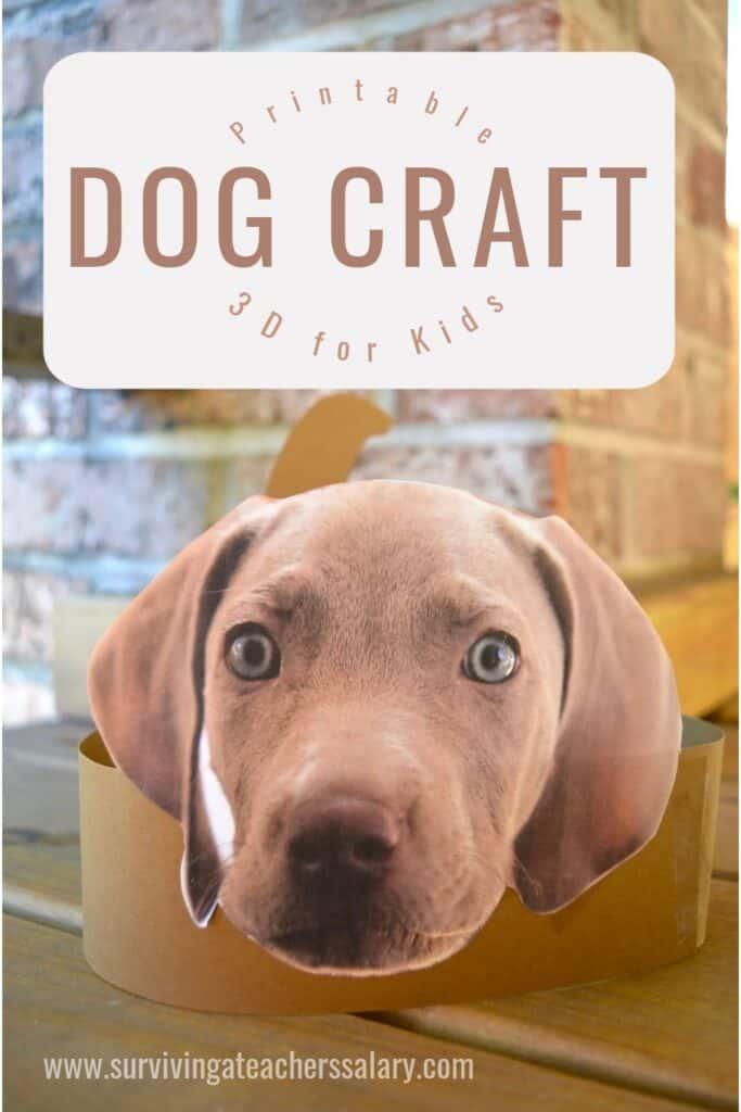 Weimaraner dog craft for kids