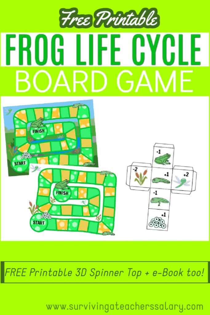 FREE Frog Life Cycle Printable Board Game