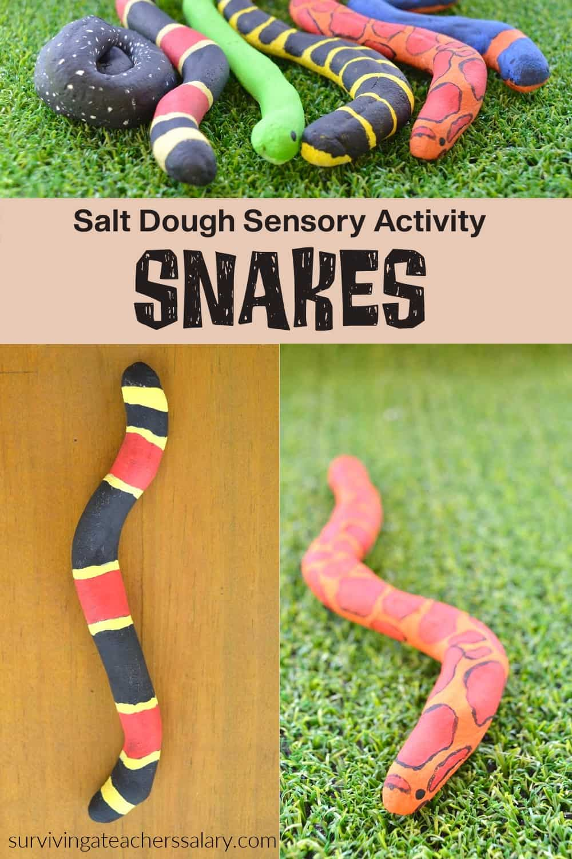 salt dough snakes activity for kids
