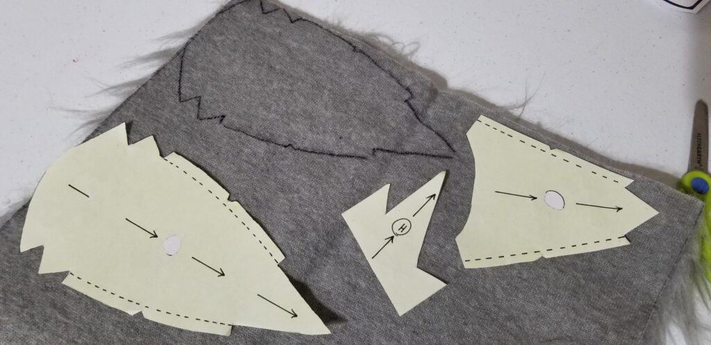 pattern templates on craft materials
