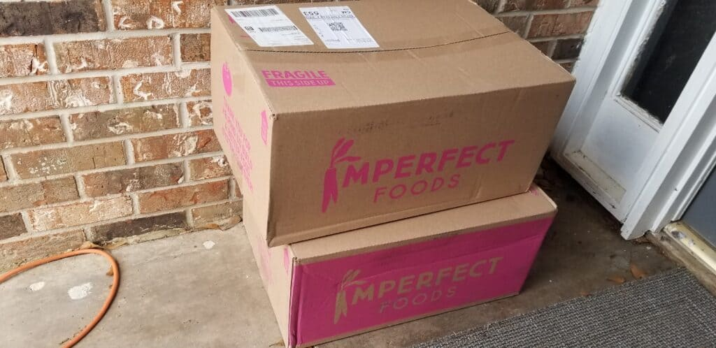 two boxes of Imperfect Foods