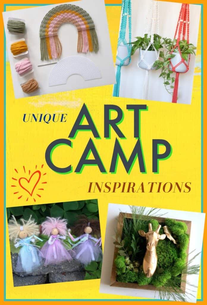 unique art camp inspirations