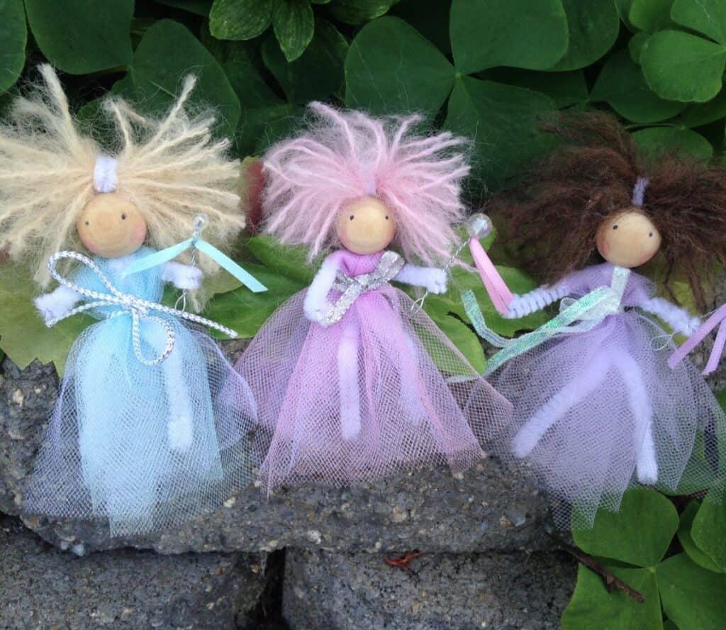 3 fairy dolls