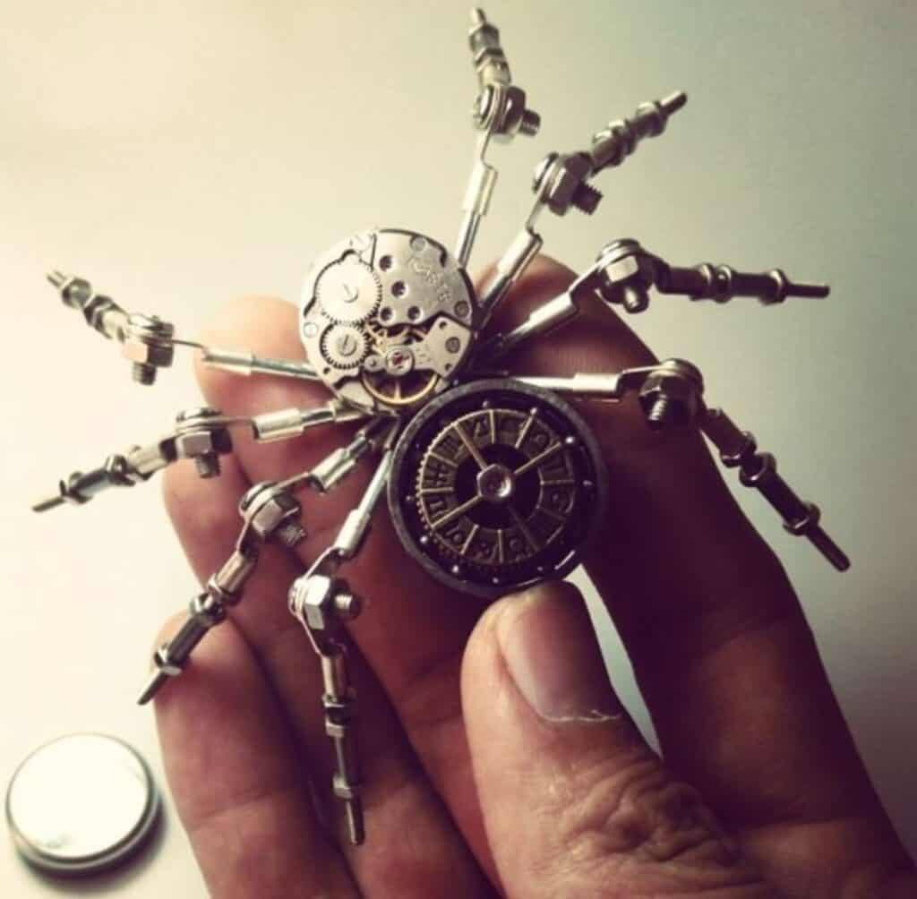steampunk spider from etsy