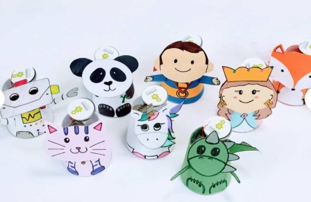 kid's paper craft robots