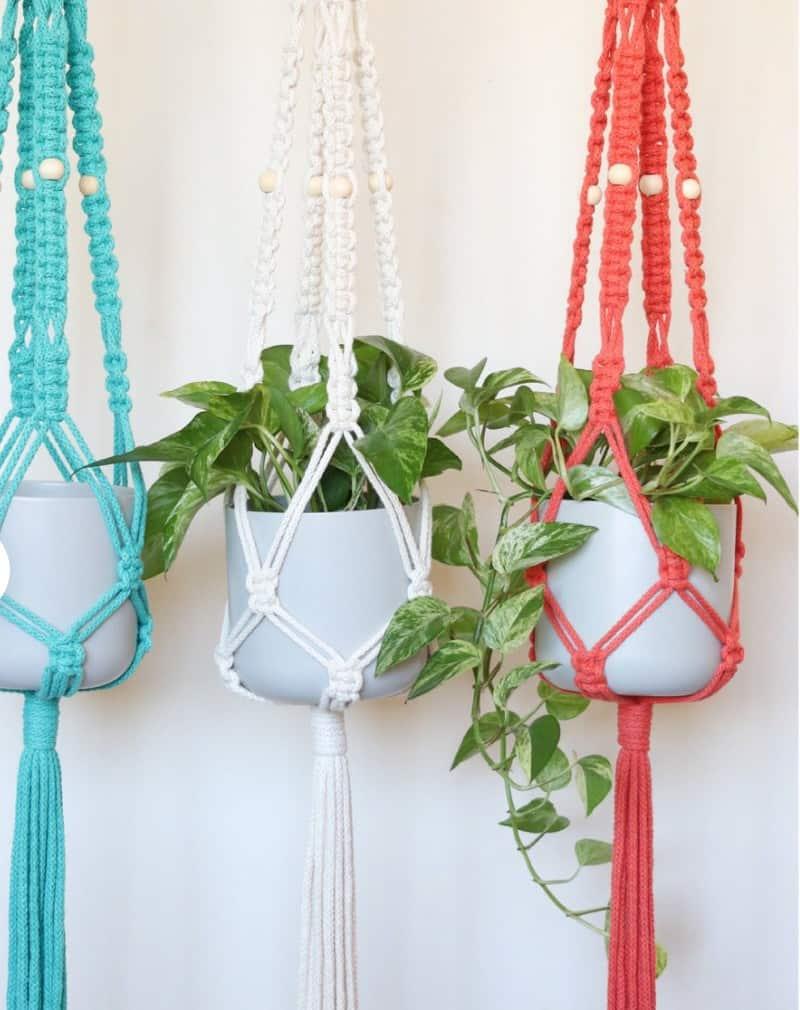 beautiful macrame plant hangers