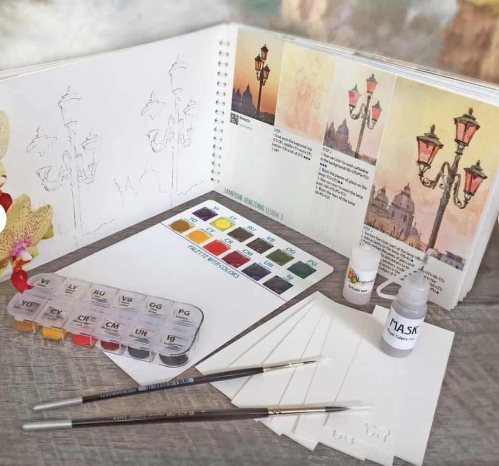paint by number watercolor art set