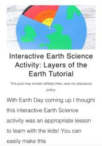 interactive earth science activity