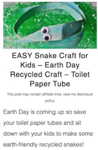 recycled snake craft