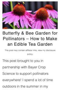 how to make a pollinator garden