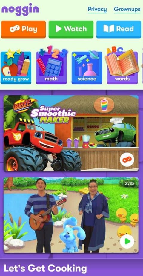 Noggin Learning App for Kids