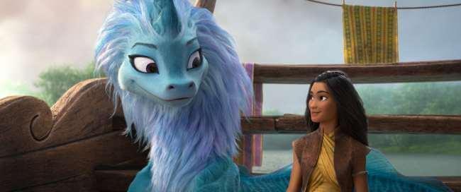 Raya and Sisu Disney movie characters