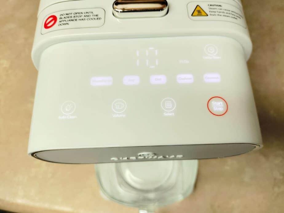 digital timer screen on Milkmade