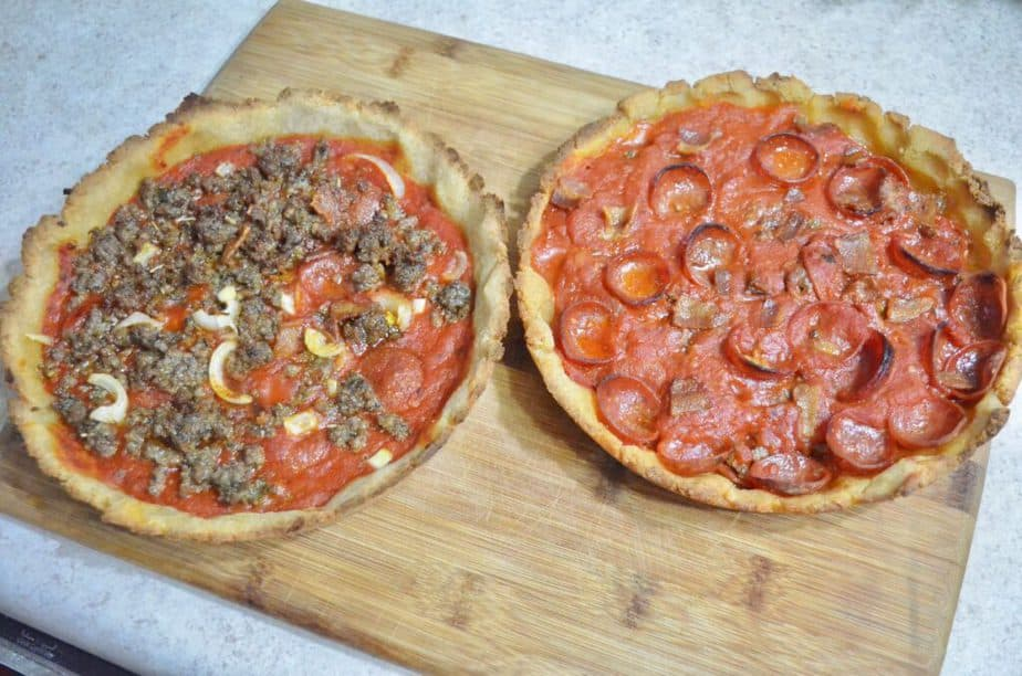 pepperoni and sausage gluten free pizza