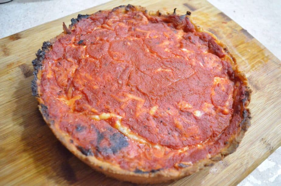 sauce on top gluten free pizza