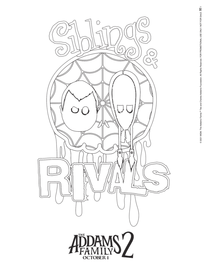 Addams Family Coloring Pages