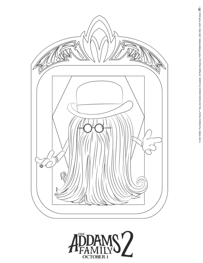 cousin It coloring page