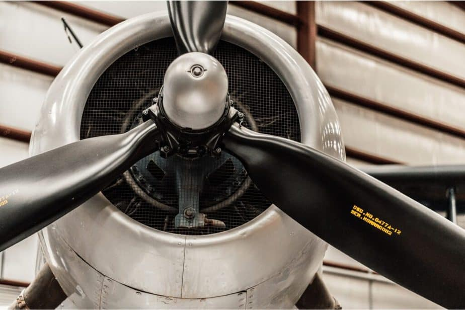 up close of plane propellers